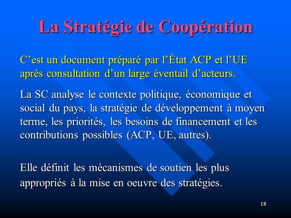 La Stratégie de Coopération