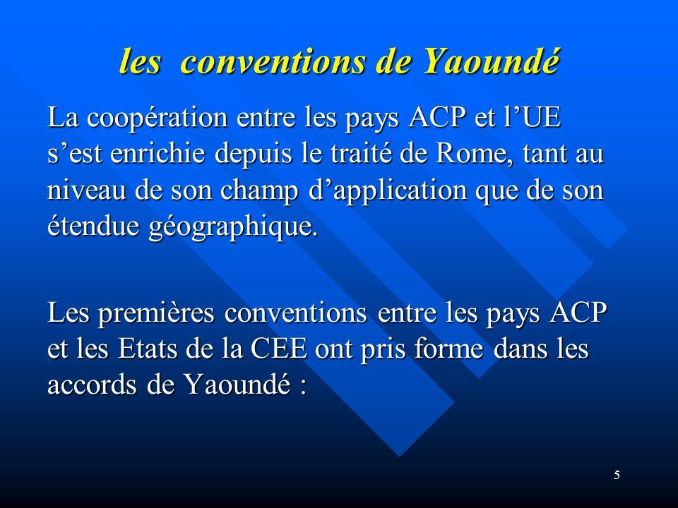 les conventions de Yaoundé