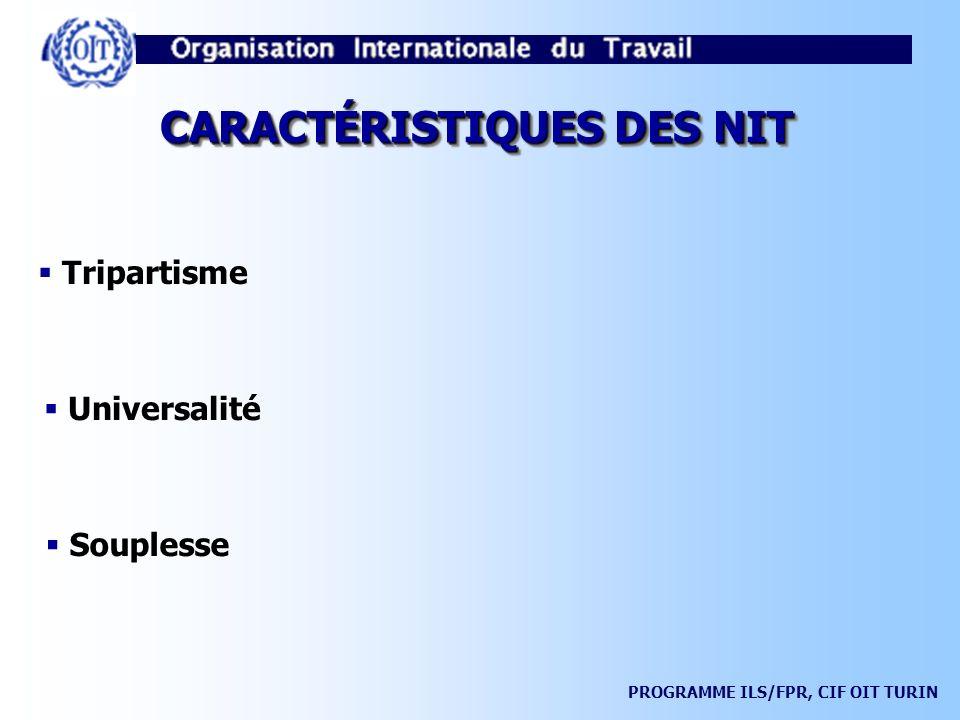 CARACTÉRISTIQUES DES NIT