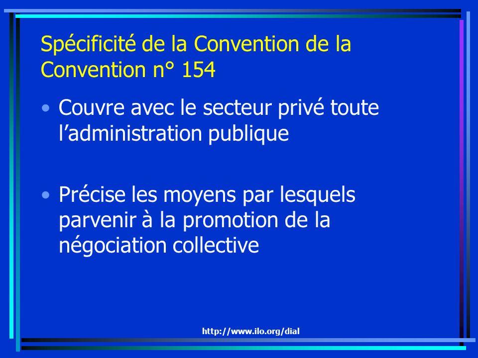 Spécificité de la Convention de la Convention n° 154