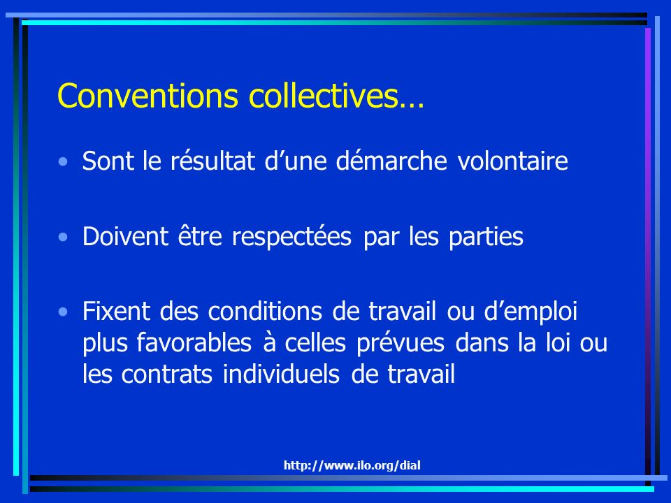 Conventions collectives…