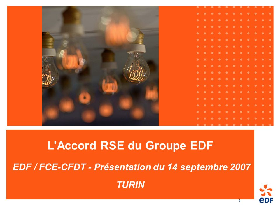 L'Accord RSE du Groupe EDF