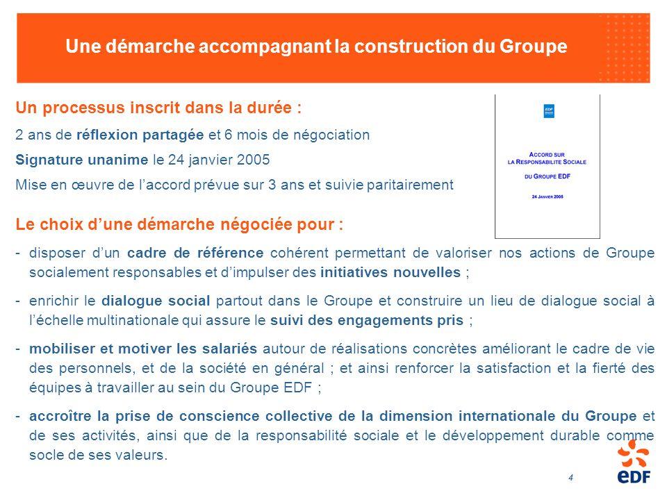 Une démarche accompagnant la construction du Groupe