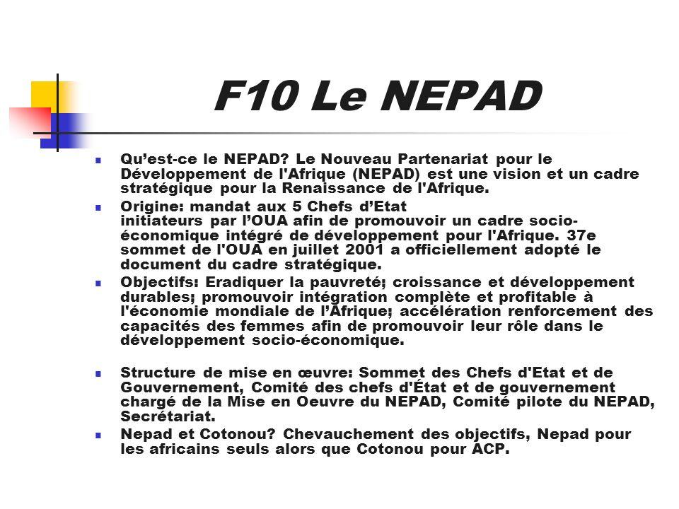F10 Le NEPAD