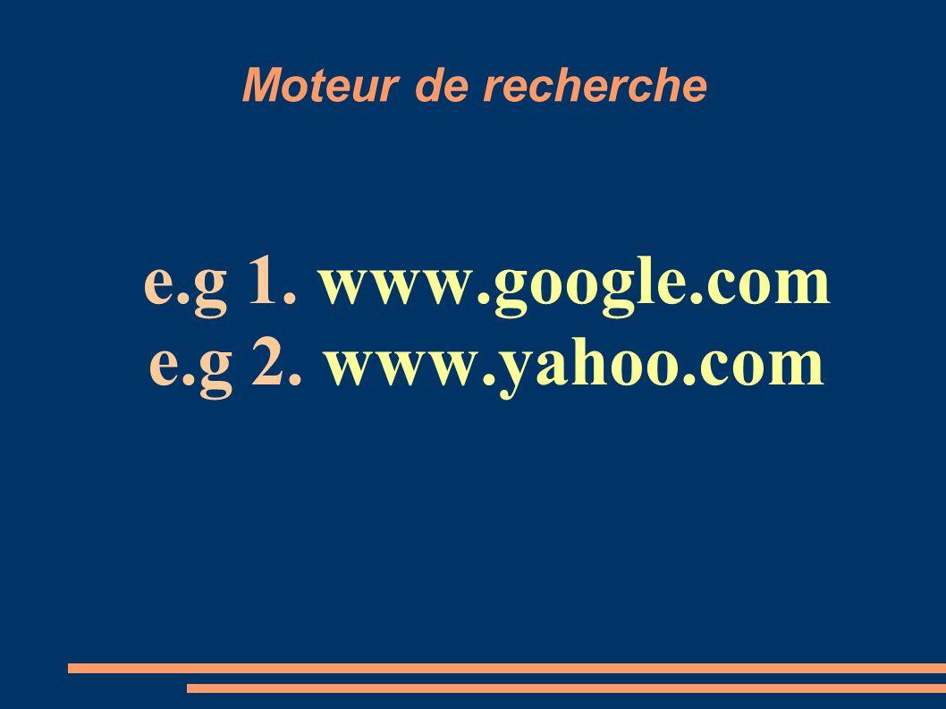 e.g 1. www.google.com e.g 2. www.yahoo.com