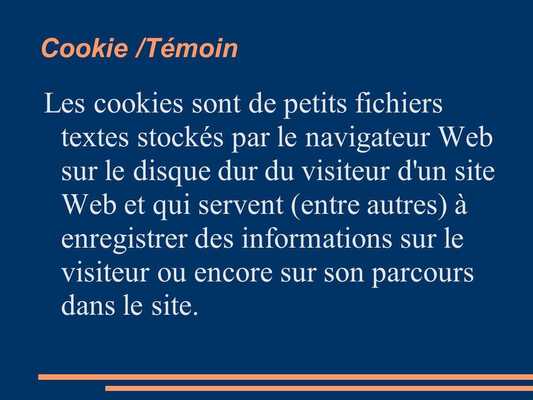 Cookie /Témoin