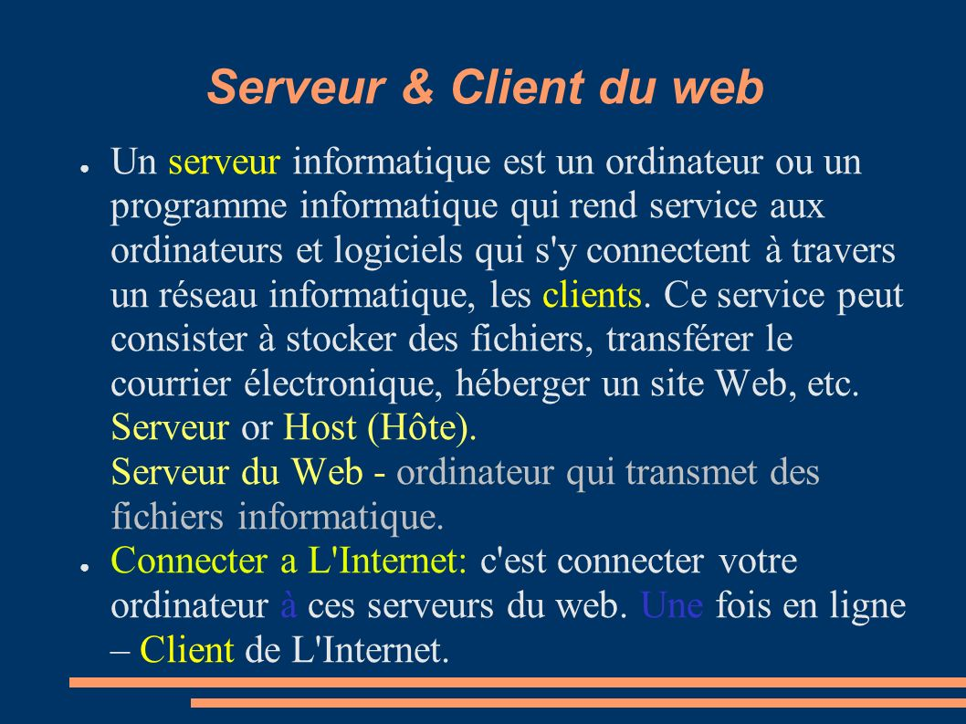 Serveur & Client du web