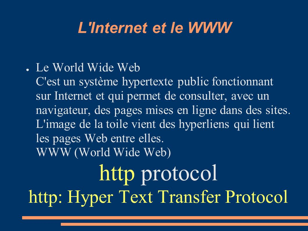 http: Hyper Text Transfer Protocol