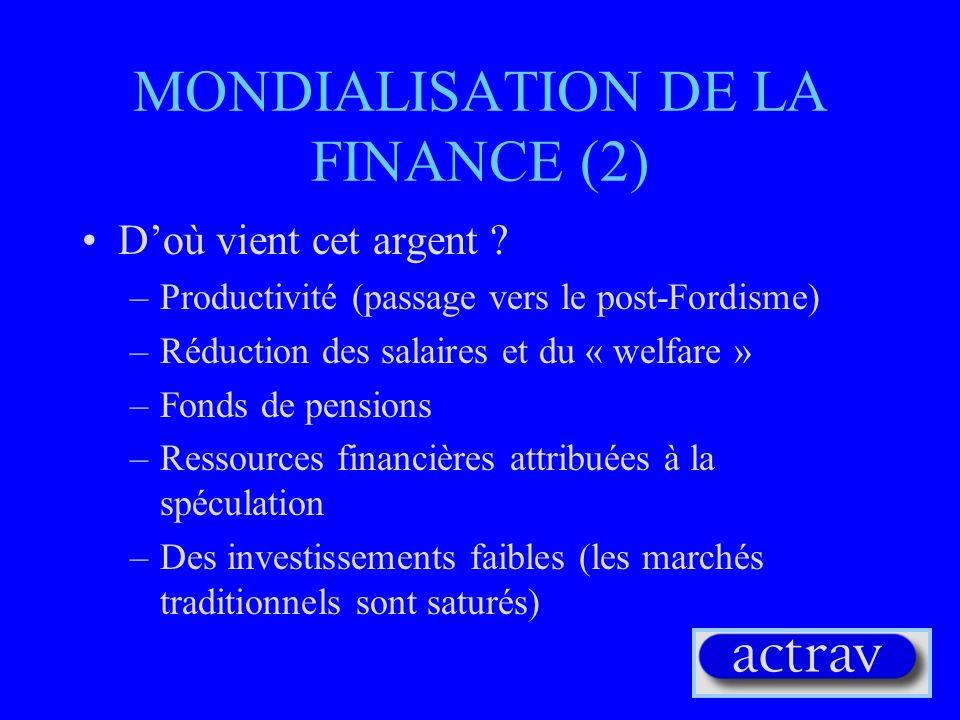 MONDIALISATION DE LA FINANCE (2)