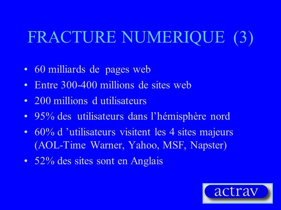 FRACTURE NUMERIQUE (3) 60 milliards de pages web