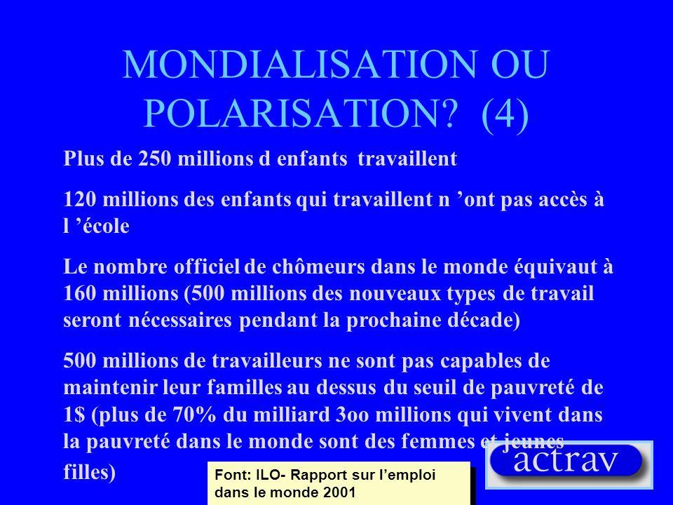 MONDIALISATION OU POLARISATION (4)