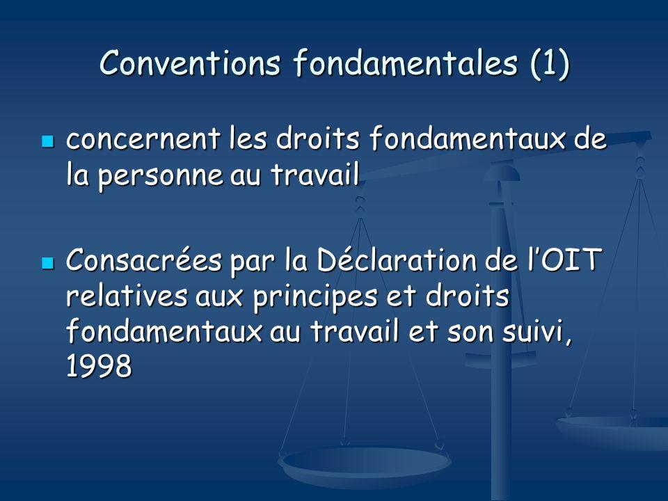 Conventions fondamentales (1)