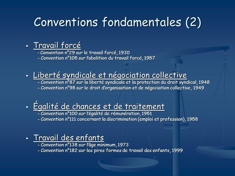 Conventions fondamentales (2)