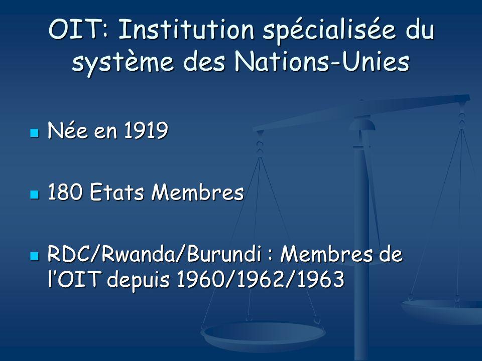 OIT: Institution spécialisée du système des Nations-Unies