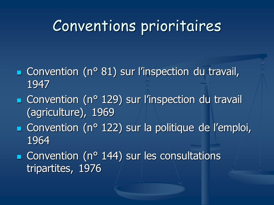 Conventions prioritaires