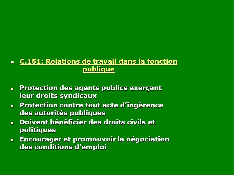C.151: Relations de travail dans la fonction publique