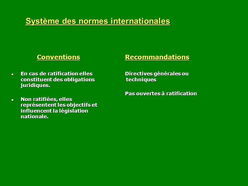 Système des normes internationales