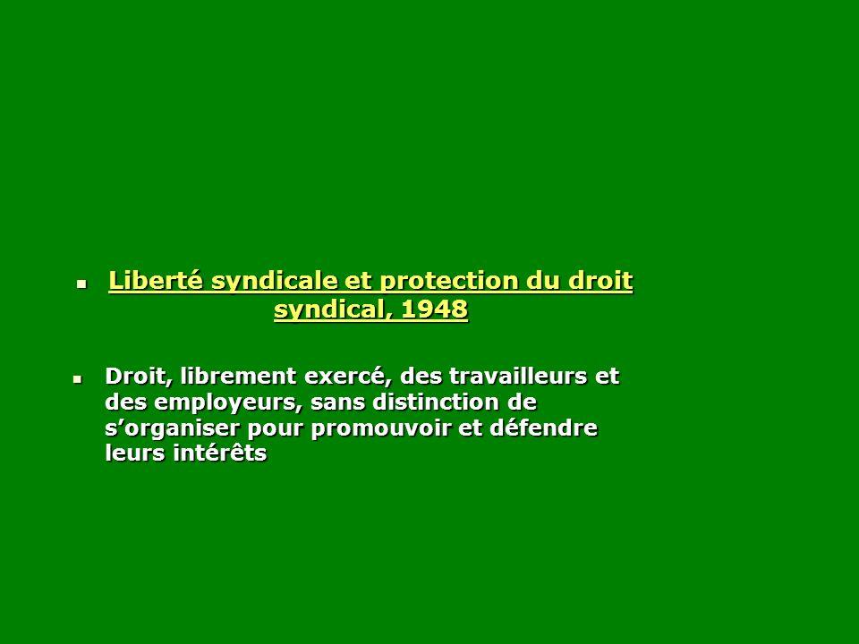 Liberté syndicale et protection du droit syndical, 1948
