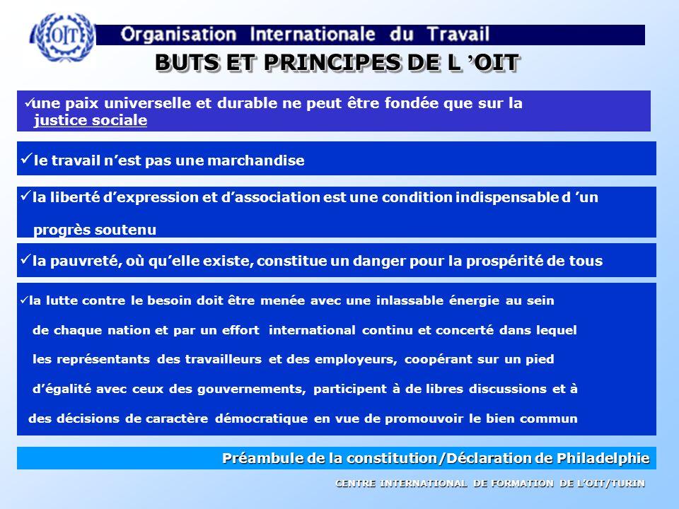 BUTS ET PRINCIPES DE L 'OIT