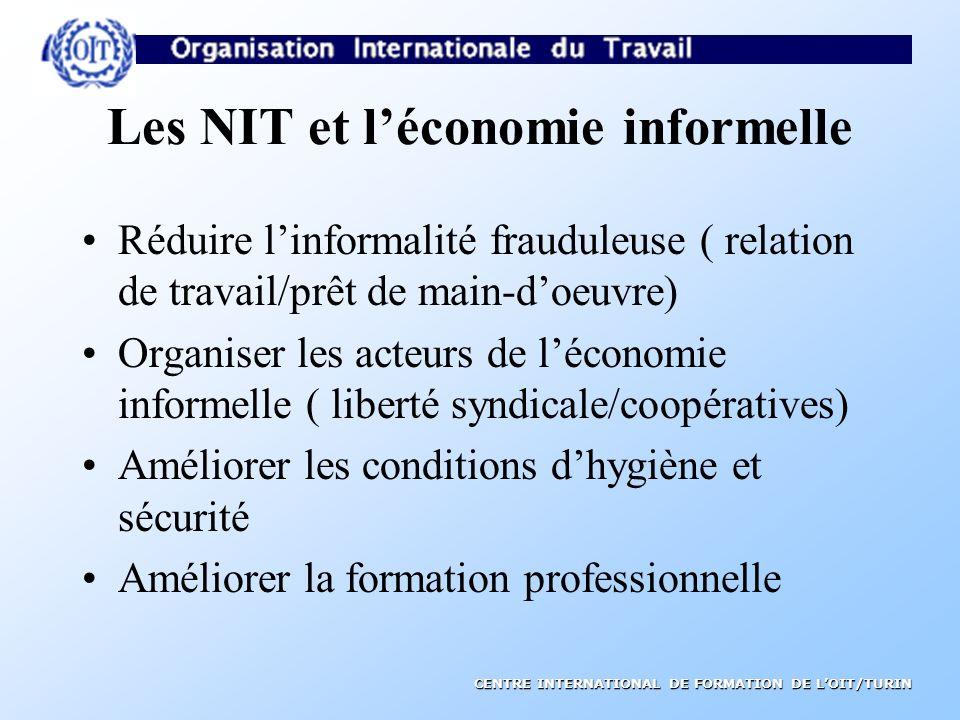 Les NIT et l'économie informelle