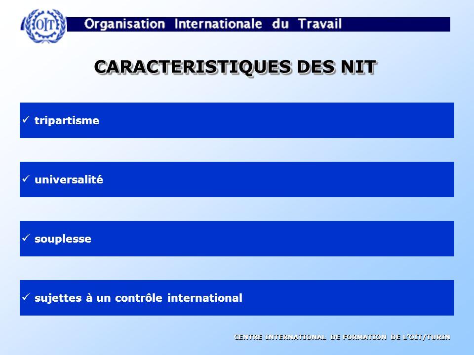 CARACTERISTIQUES DES NIT