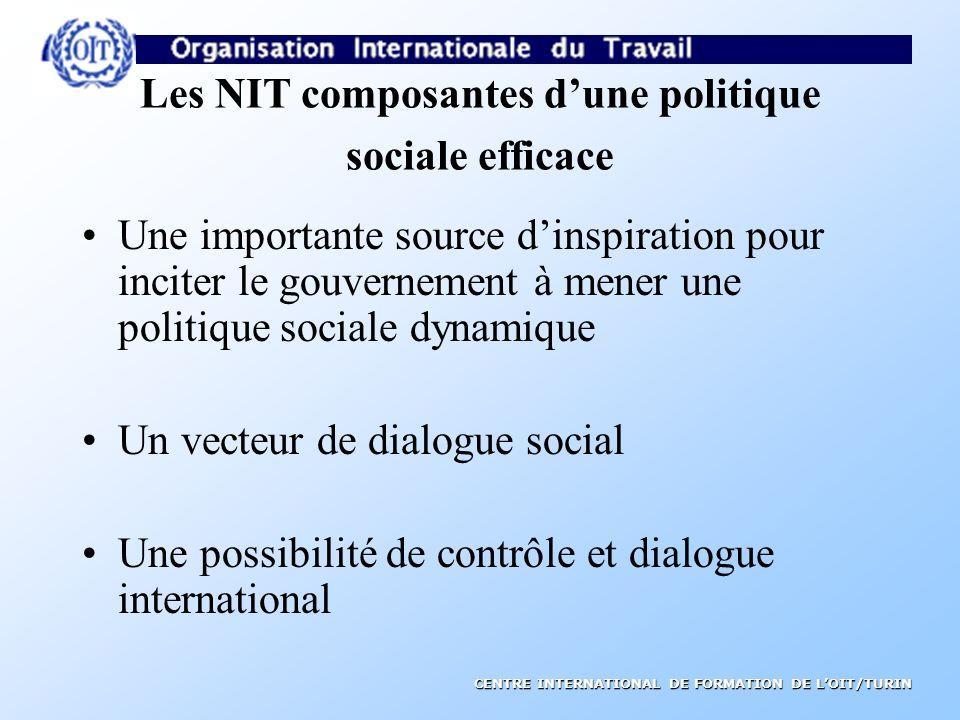 Les NIT composantes d'une politique sociale efficace