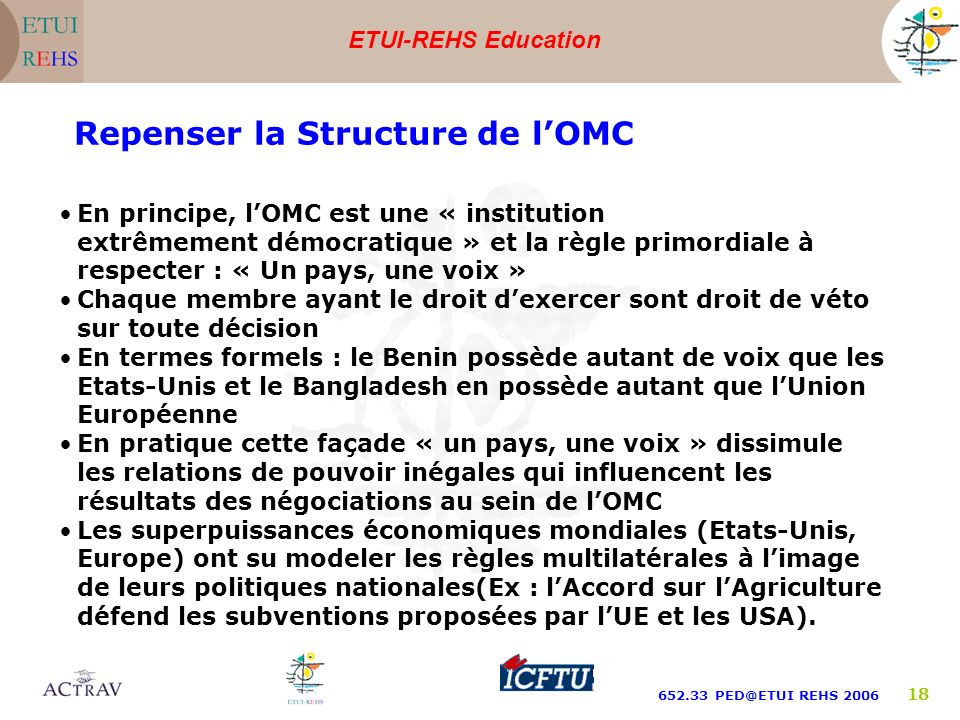 Repenser la Structure de l'OMC