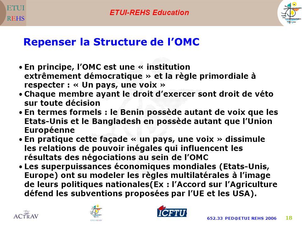 Repenser la Structure de l'OMC