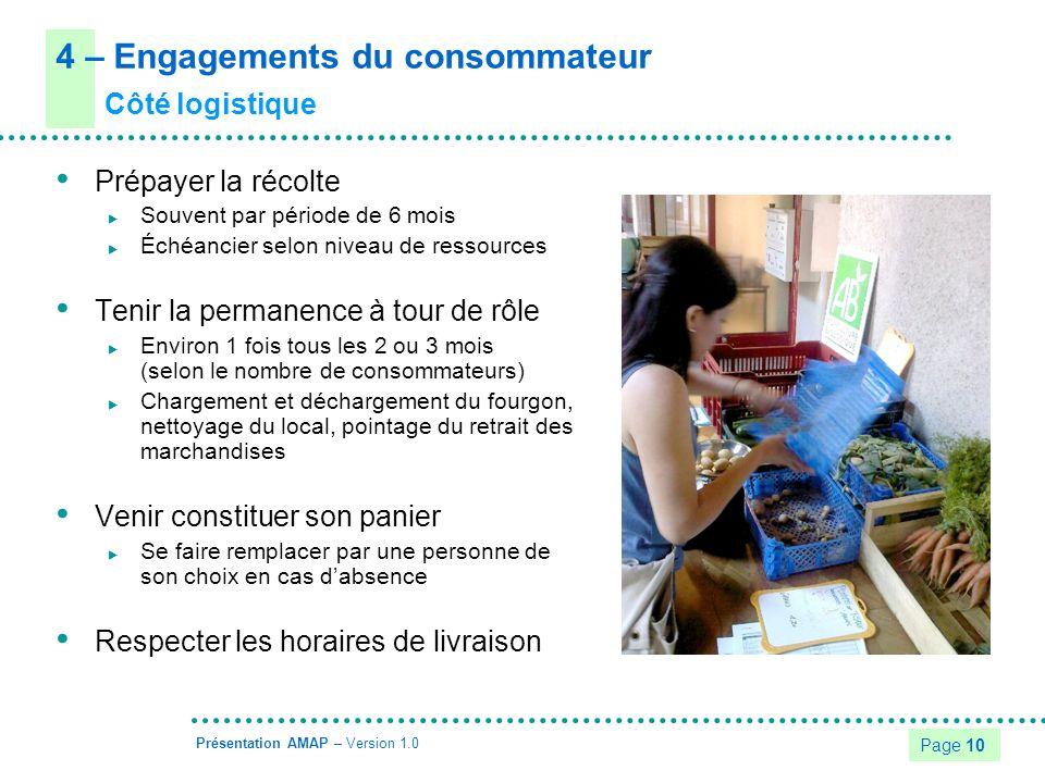4 – Engagements du consommateur