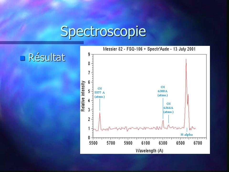 Spectroscopie Résultat