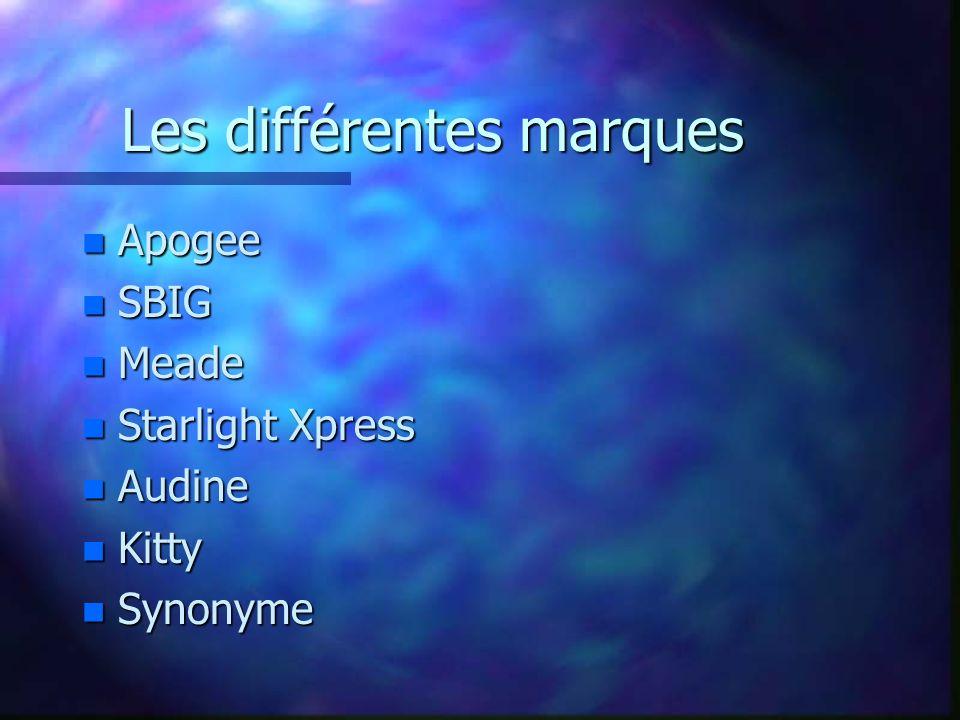 Les différentes marques