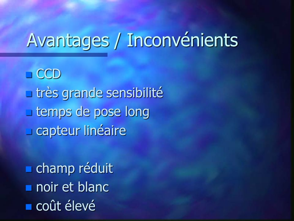 Avantages / Inconvénients