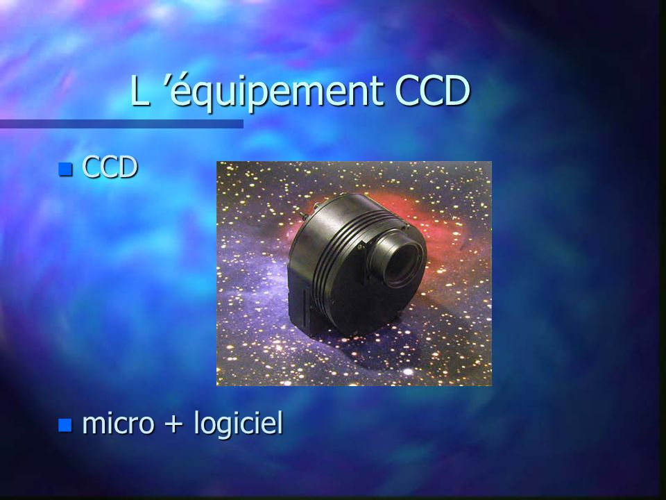 L 'équipement CCD CCD micro + logiciel