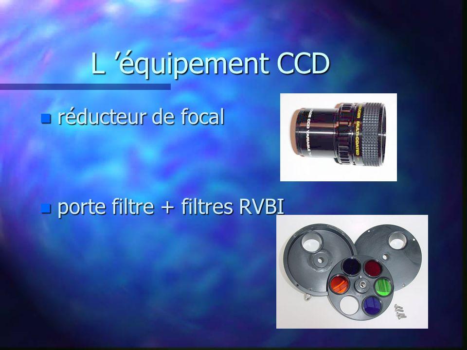 L 'équipement CCD réducteur de focal porte filtre + filtres RVBI