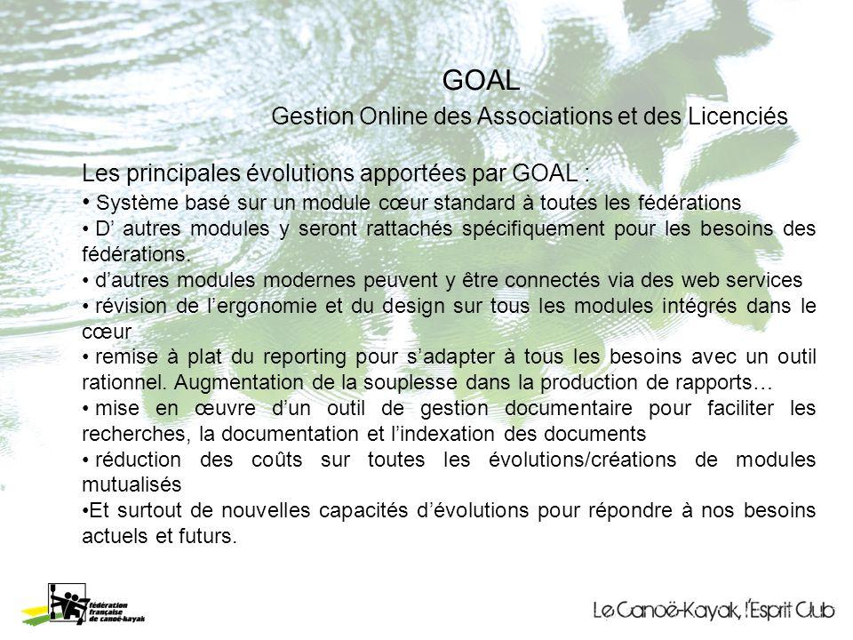 GOAL Gestion Online des Associations et des Licenciés