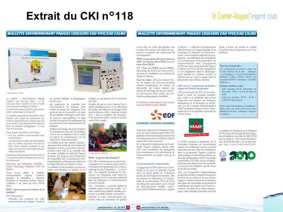 Extrait du CKI n°118