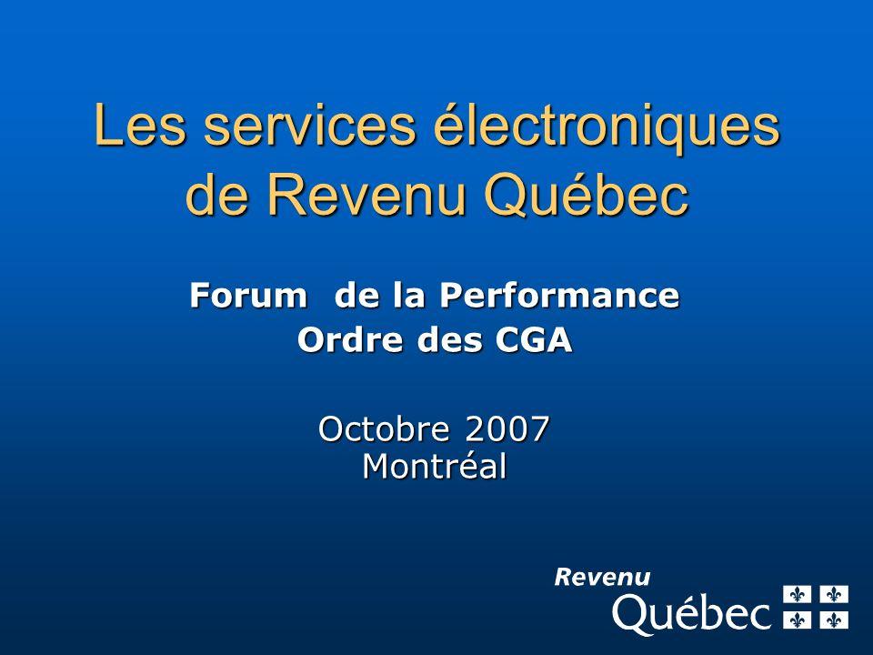 Les services électroniques de Revenu Québec