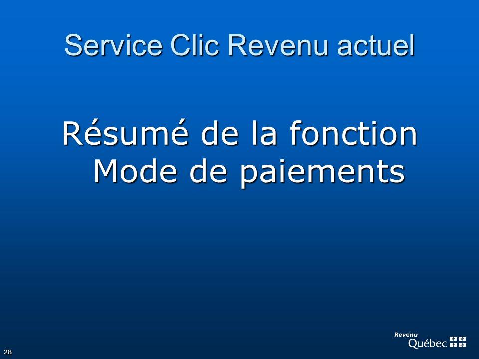 Service Clic Revenu actuel
