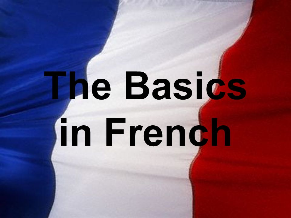 The Basics in French