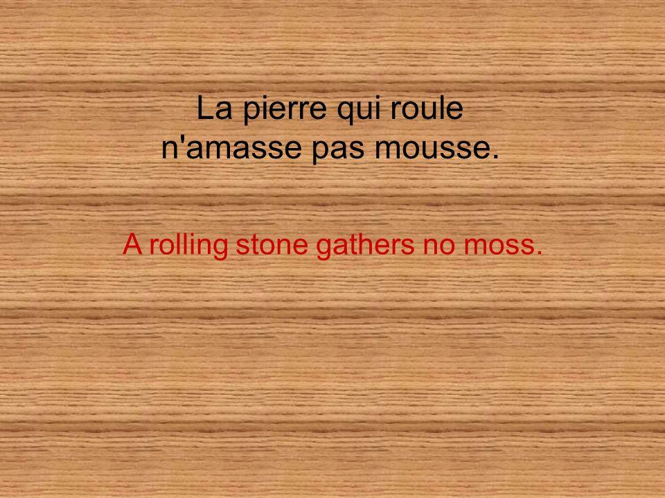 A rolling stone gathers no moss.