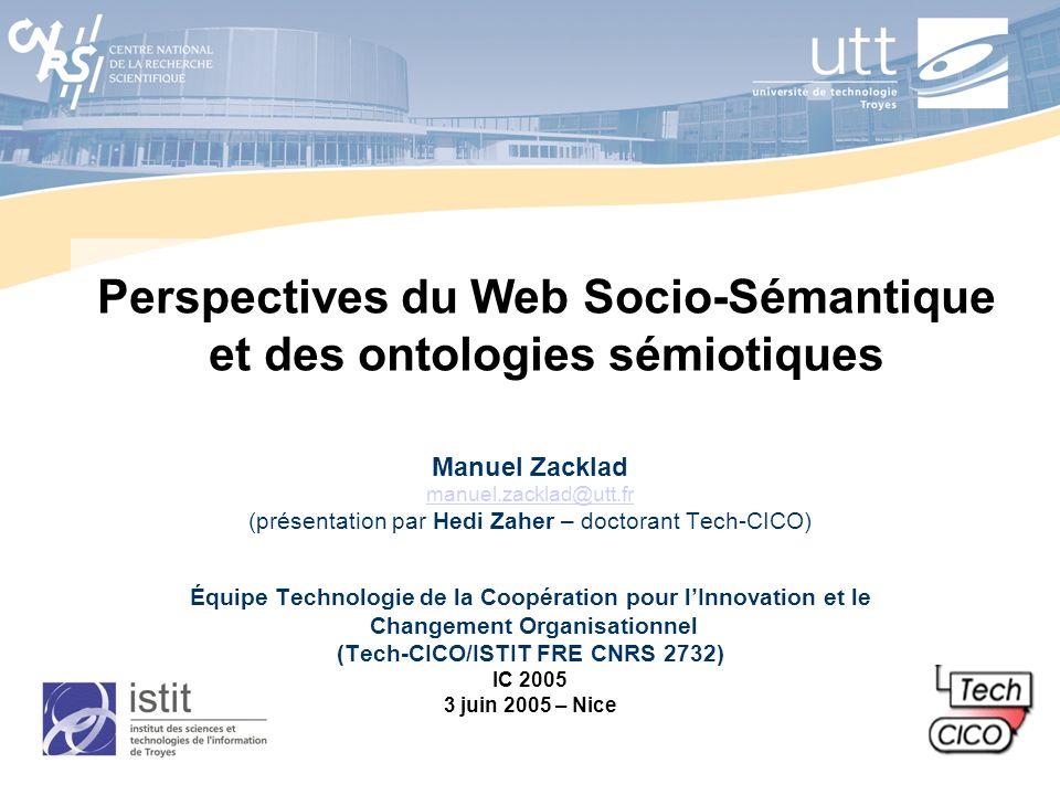 Perspectives du Web Socio-Sémantique et des ontologies sémiotiques