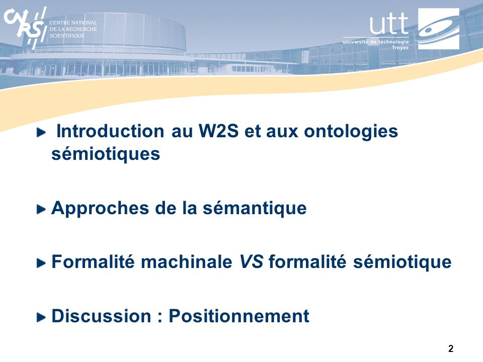Introduction au W2S et aux ontologies sémiotiques