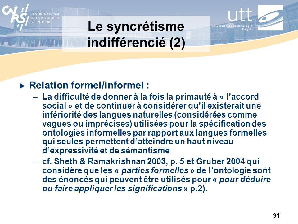 Le syncrétisme indifférencié (2)