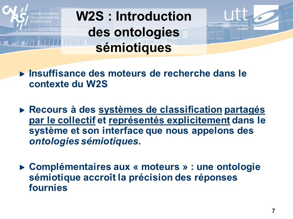 W2S : Introduction des ontologies sémiotiques