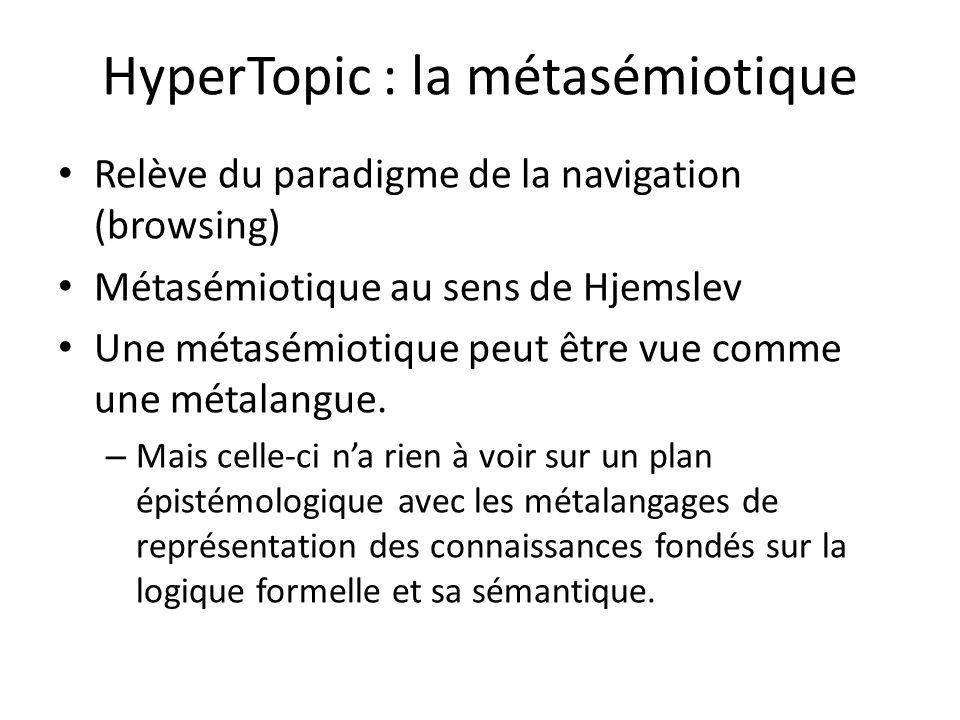 HyperTopic : la métasémiotique
