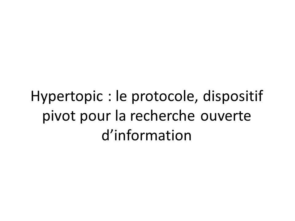 Hypertopic : le protocole, dispositif pivot pour la recherche ouverte d'information