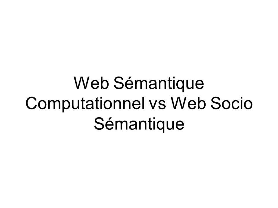 Web Sémantique Computationnel vs Web Socio Sémantique