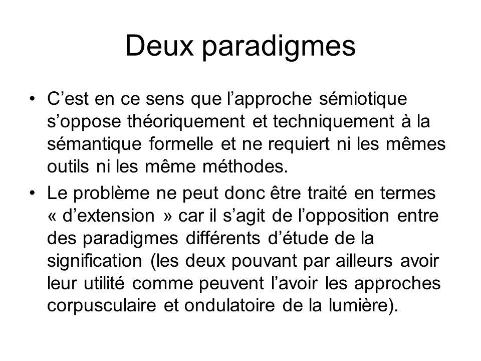Deux paradigmes