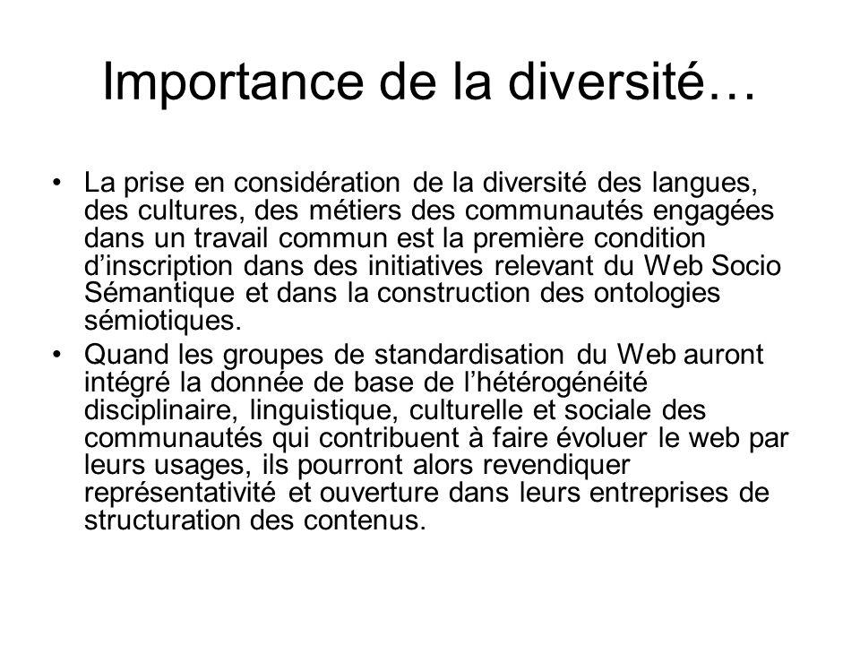 Importance de la diversité…