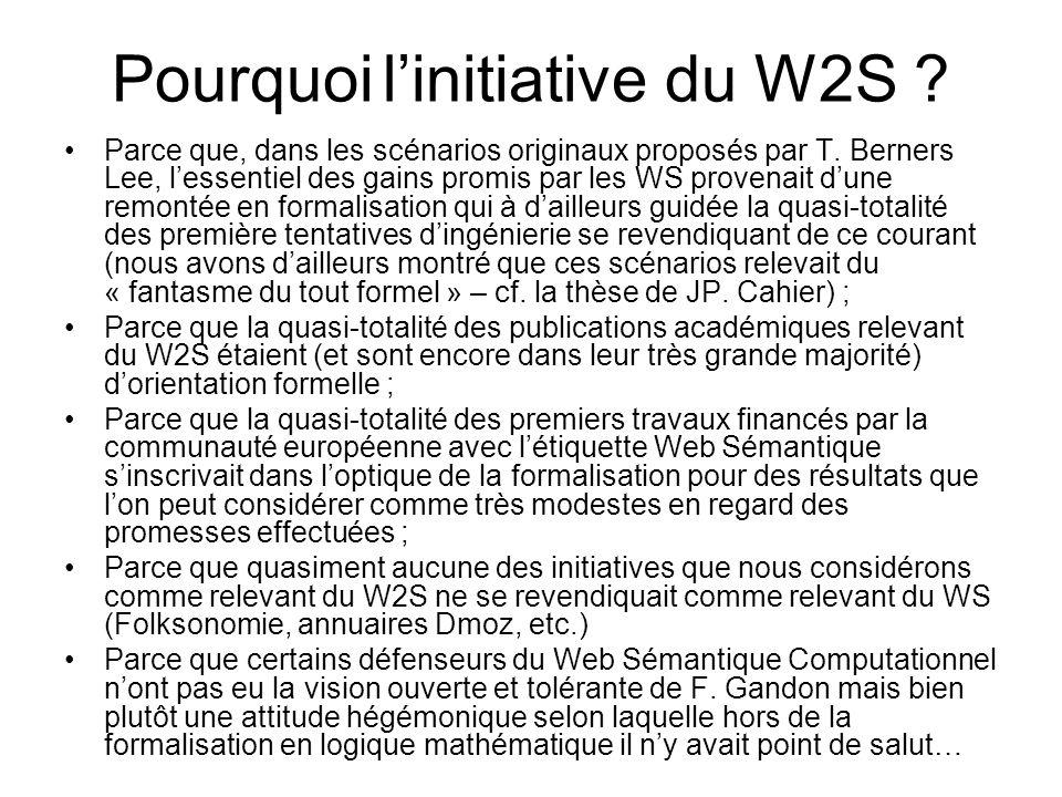 Pourquoi l'initiative du W2S